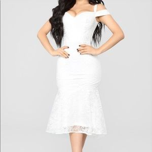 Fashion Nova White Lace Dress